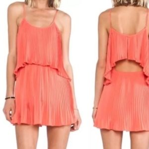 Lovers + Friends Coral California Girl Tiered MINI